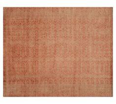 Tabitha Hand-Loomed Jacquard Rug - Blush | Pottery Barn, 8x10 $900, 9x12 $1080
