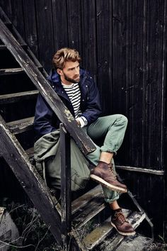 classically rugged (great boots!)