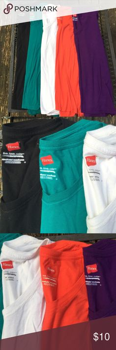 SOLD!!! Never worn, bought thinking that I would wear them and never did. Comes from a smoke free, animal free house! In you would like more information on this top please feel free to leave a comment! Hanes Tops Tees - Long Sleeve