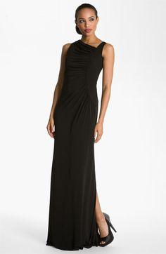 Calvin Klein Asymmetrical Jersey Gown | Nordstrom