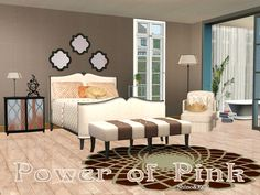 Bedroom Power of Pink by ShinoKCR - Sims 3 Downloads CC Caboodle