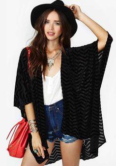 Black Striped V-neck Half Sleeve Loose Polyester Blouse