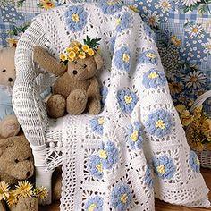 Blossoming Baby Afghan Crochet Pattern ePattern