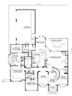 Luxury House Plan First Floor - 055S-0016   House Plans and More