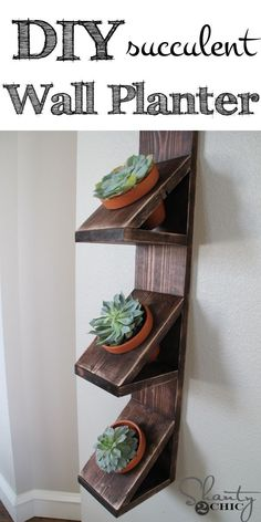 Easy DIY Succulent Wall Planter! LOVE this!