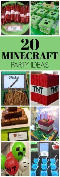20 Kids Minecraft Party Ideen - Geburtstag - Pretty My Party, 9th Birthday Parties, Birthday Party Games, Birthday Fun, Tangled Birthday, 10th Birthday, Kids Birthday Party Ideas, Tangled Party, Tinkerbell Party, Cowboy Birthday