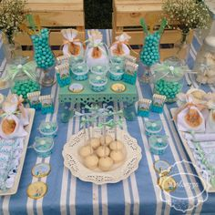Lovely desserts at a Peter Rabbit birthday party! See more party planning ideas at CatchMyParty.com!
