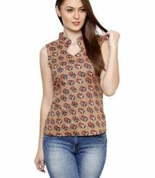 Buy Fusion Mela WOMEN'S CASUAL PRINTED SLEEVELESS COTTON TOP party-top online