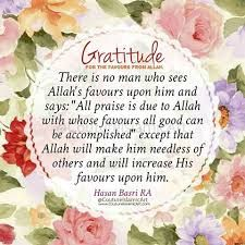 Always be thankful to Allah!   #Thankfulness #Gratitude #Faith