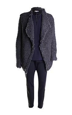 This Chunky Textured Fringe Knit Jacket is bohemian and extremely romantic. Perfect for the fun girl on the go. Fabric: Nubby bouclé knit. 53% Acrylic, 25% Mohair, 12% Polyester, 10% Wool Color: Anthracite Long Sleeve Fringe Trim Closure: Open Front Dry clean Imported, ...  More details at https://jackets-lovers.bestselleroutlets.com/ladies-coats-jackets-vests/casual-jackets/product-review-for-iro-campbell-fringe-trim-long-sleeve-sweater-jacket-in-anthracite/