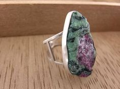 Hey, I found this really awesome Etsy listing at https://www.etsy.com/listing/252061229/ruby-zoisite-sterling-silver-statement