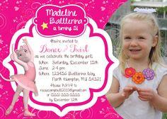 Personalized Angelina Ballerina Birthday Invitation by Irrelephant Designs
