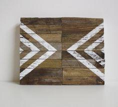 Desert Center / Modern Industrial Design / Reclaimed Driftwood Artwork / Southwest / geometric / Autumn Decor / Natural / Brown