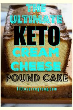 There's a reason this Keto Cream Cheese Pound Cake became a favorite in the low carb keto community, that's because it's a delicious alternative to re True Pound Cake Recipe, Pound Cake Recipes, Keto Cake, Keto Cheesecake, Ketogenic Desserts, Keto Snacks, Ketogenic Diet, Keto Cookies, Cookies Et Biscuits