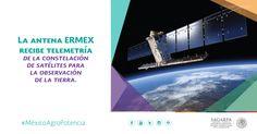 La antena ERMEX recibe telemetría de la constelación de satélites para la observación de la tierra. SAGARPA SAGARPAMX #MéxicoAgroPotencia