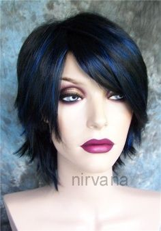 Jet Black Hair With Blue Tint 30s Hairstyle | Hair and Beauty