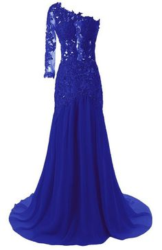 Queenworld Women's One Shoulder Sexy Mermaid Evening Prom Dresses US-2 Royal Blue. Have applied for trademark protection.We have our own label and package. The fabric is chiffon with Light,soft, smooth and straight features. Hand wash or Dry clean. Estimated Delivery is set automatically. You will receive it within 20 days totally.If you need a rush order, please contact with me freely. Can be used as Bridesmaid Dress,Evening Dress,Prom Dress,Party Dress and other various occasions.All…