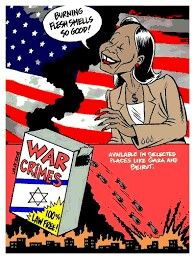 war crimes israel political cartoons carlos latuff
