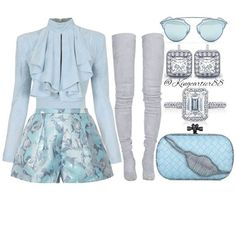 Cute outfit but I'd change the shoes Kpop Fashion Outfits, Stage Outfits, Girly Outfits, Cute Casual Outfits, Girl Fashion, Fashion Looks, Womens Fashion, Mode Geek, Outfit Elegantes