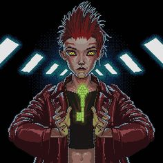 ART3MIS from Ready Player One in pixels  #art3mis #readyplayerone #pixels #pixelart  #oasis #samanthacook #parzival #aech #daito #sho…