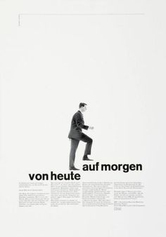 poster design and advertorial design of the 1960's | typography / graphic design: Gerstner Kutter |