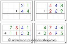 Addition Command Cards: Montessori Home Learning Materials