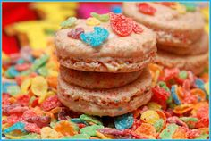THIS RECIPE IS FROM THE NOVICE CHEF BLOG!!!! GO VISIT!!!Fruity Pebble MacaronsYield: 24 Macarons ingredients: For the Fruity Pebble Macaron shells: 75 grams powdered fruity pebbles, sifted **75 grams almond meal, sifted200 grams powdered sugar, sifted100 grams aged egg whites28 grams granulated sugar5 grams powdered dehydrated egg whites (I USED MERNIGUE POWDER HERE) For the …