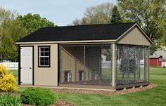 This 3 dog pre-built kennel is delivered fully-assembled and ready for immediate use. We deliver anywhere within the Continental US AND we have financing!