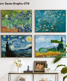 Van Gogh Oil Painting Canvas – Vangovagon Home Store Abstract Canvas Art, Canvas Art Prints, Canvas Wall Art, Arte Van Gogh, Van Gogh Art, Poster Pictures, Canvas Pictures, Van Gogh Pinturas, Painting Words