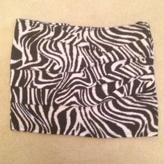 Papaya Zebra Print Mini Skirt - $11