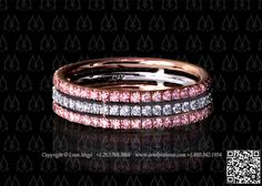 Pink and white diamo