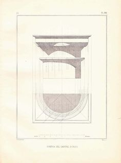 Vintage Print Architecture Shadow of the Doric by CarambasVintage