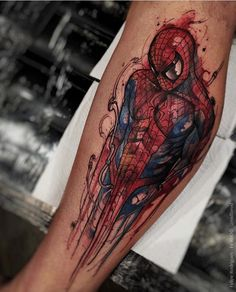 Spider-Man tattoo - Felipe Rodrigues - Visit to grab an amazing super hero shirt now on sale!