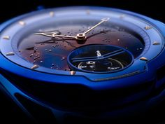 De Bethune DB28 Blue Tourbillon Meteorite from PROFESSIONALWATCHES