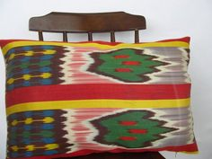 Silk Ikat pillowDecorative pillow coverZigzag  by asiapillow, $50.00