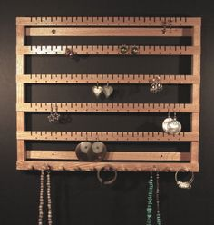 Earring Holder Rack Tree from Spirit Ranch. I got one for every family at Chris… - Diy Jewelry Idea Diy Jewelry Holder Tree, Jewelry Hanger, Necklace Holder, Hemp Jewelry, Tree Necklace, Jewelry Box, Diy Earring Holder, Diy Necklace, Jewelry Crafts