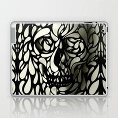 Skull Laptop & iPad Skin by Ali GULEC - $25.00  Laptop PC Computer Notebook Case Skin Sleeve Fashion Design Dell HP Acer ASUS Gateway Samsung Lenovo Apple