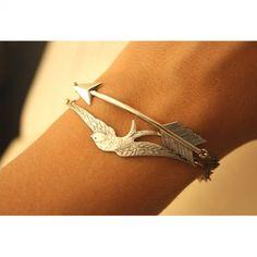 Arrow and Bird Bracelet