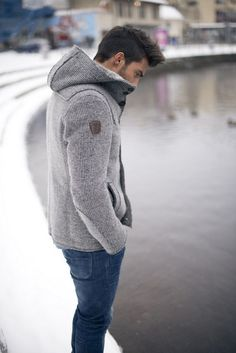 I am picky with hoodies on men that are meant to be more fashionable than sporty...this one pulls it off. #mensjackets