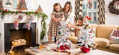 The days leading up to Christmas are the most exciting  for designer Lilly Bunn—and for her two daughters.  The highlight: trimming the tree and decking the halls. We stopped in as Lilly was gearing up for the holidays.  Get inspired by her merry ideas and shop the look.