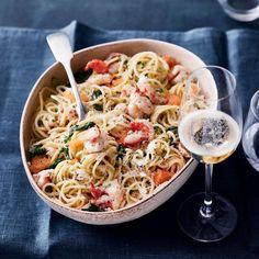 Skagenrörapasta   Kala, Pastat ja risotot   Soppa365 Pasta Dishes, Risotto, Chili, Spaghetti, Ethnic Recipes, Food, Chile, Essen, Meals