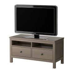 change out the hardware  HEMNES TV unit - gray-brown - IKEA