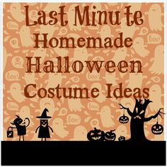 Last Minute DIY Halloween Costumes for Kids (and Adults, too!)
