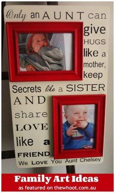 Such a sweet gift for an aunt! Love the words more than the style/layout.