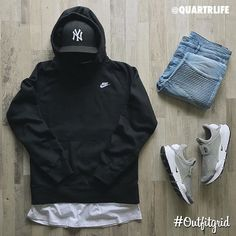 outfitgrid: Todays top #outfitgrid is by @quartrlife. #NikeSportswear #Hoodie