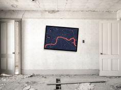 London Outbreak Map | #print #poster #map #outbreak #zombie #newyork #art #decor #home
