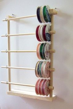 Hanging Ribbon Holder Storage Box Organizer for 80 Spools - # for # Hanging . - Hanging Ribbon Holder Storage Box Organizer for 80 spools – # Hanging - Scrapbook Organization, Sewing Room Organization, Ribbon Organization, Scrapbook Storage, Craft Room Organizing, Organization Ideas, Organizing Tips, Craft Room Storage, Craft Rooms