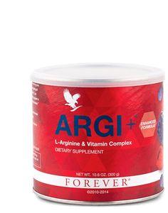 Forever ARGI+ Combine la L-Arginine à un cocktail unique de vitamines et d'extraits de fruits pour un accompagnement efficace pendant et après un effort extrême. Les vitamines C, B6 et B9 contribuent à un rendement normal du métabolisme énergétique et du glycogène. Elles réduisent également la fatigue. Composants principaux : 51% de L-Arginine, mélange d'extraits de fruits rouges. Conseils d'utilisation : dilution dans un verre d'eau, de jus ou de Pulpe d'Aloès.