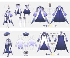 They are kimono princess outfits! Dress Drawing, Drawing Clothes, Fashion Design Drawings, Fashion Sketches, Anime Outfits, Cute Outfits, Anime Dress, Fantasy Dress, Fantasy Outfits