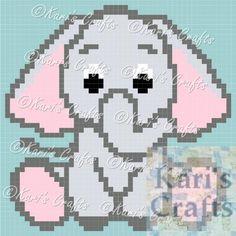 Baby Elephant C2C Corner to Corner Afghan Blanket PDF Pattern GRAPH ONLY - Instant Download by KarisCrafts on Etsy